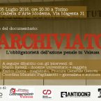 """5/7 presentazione documentario """"Archiviato. L'obbligatorietà dell'azione penale in Valsusa"""""""