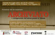 """Video della presentazione di """"Archiviato"""" 5/7/2016 alla GAM Torino"""