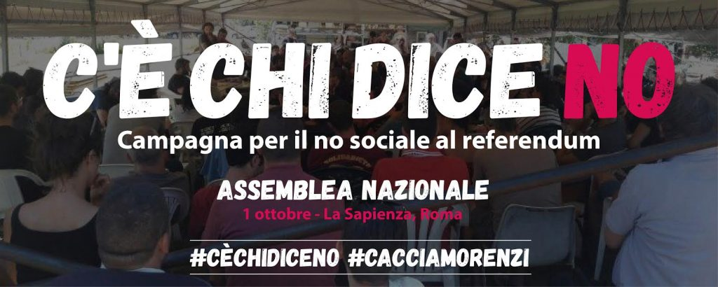 C'È CHI DICE NO – 1/10 Assemblea all'Università La Sapienza di Roma