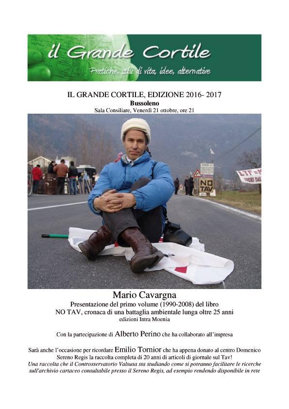 21/10 Presentazione di NO TAV, cronaca di una battaglia ambientale lunga oltre 25 anni