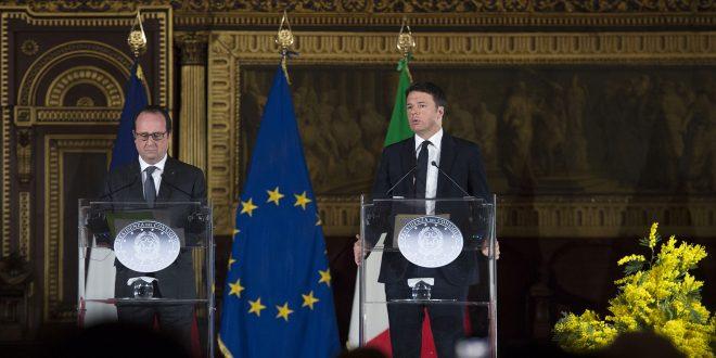Renzi Ollande Vertice Tav