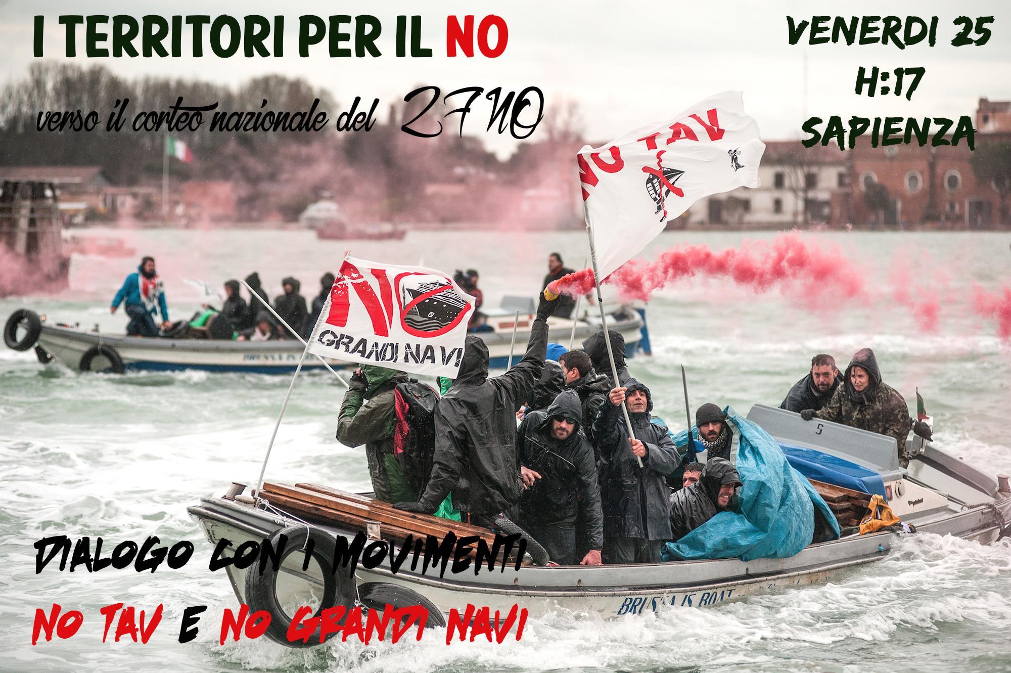 Ven 25/11, i Territori per il No verso il 27NO alla Sapienza