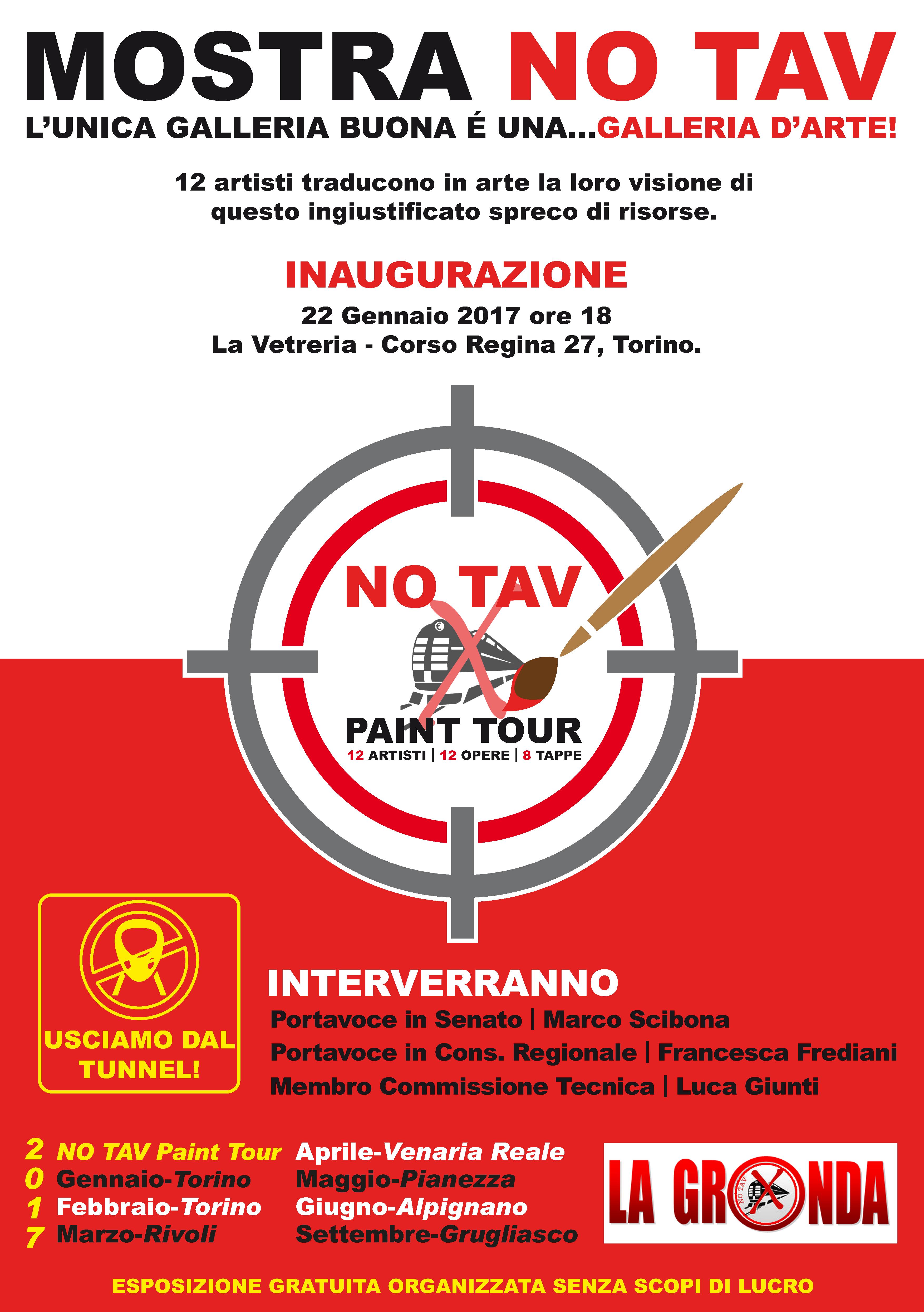 La Vetreria Torino.Torino 22 1 Mostra No Tav L Unica Galleria Buona E Una