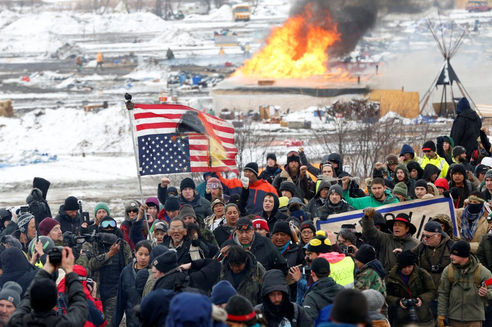 Sioux, sgomberato il campo di Standing Rock