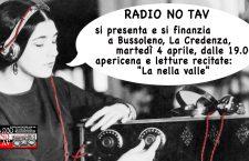 4 Aprile in Credenza Benefit Radio No Tav