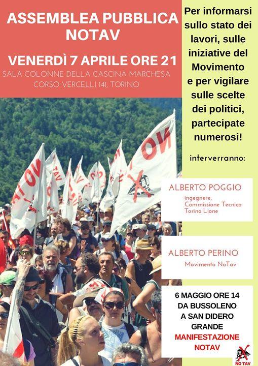 Ven 7/04, Assemblea Pubblica No Tav a Cascina Marchesa/Torino