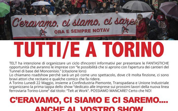 22 Maggio a Torino: ci saremo anche noi allo show di Telt