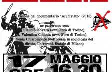 17/5 Proiezione di Archiviato alla Statale di Milano