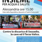 Sabato 27 maggio manifestazione ad Alessandria. Insieme per acqua e salute
