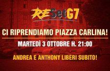 3/10 Iniziativa a Torino: Ci riprendiamo piazza Carlina! Andrea e Anthony liberi subito!!