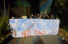 In solidarietà al Movimento No Tap, iniziativa e comunicato (FOTO)