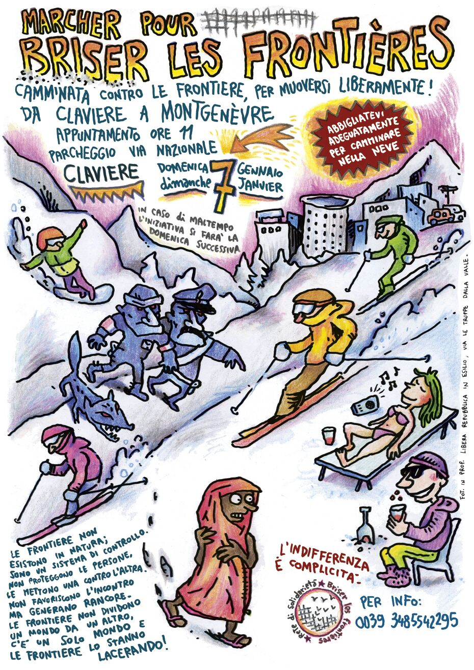 7/01, il Movimento No Tav aderisce alla marcia Briser Les Frontières