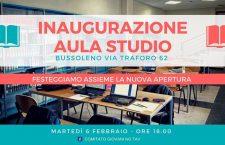 martedì 6 febbraio inaugurazione aula studio no tav