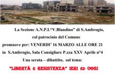 """""""La Resistenza ieri ed oggi"""" all'Anpi di s.Ambrogio presentazione di """"Hevalen"""""""