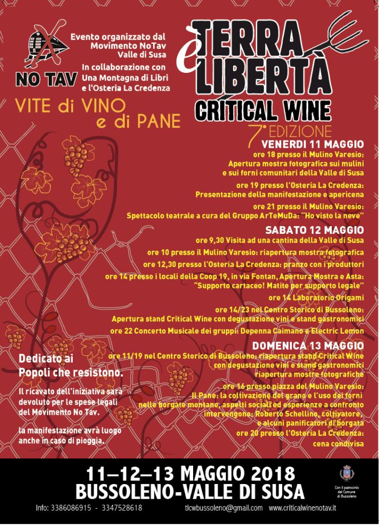 Critical Wine No tav 11-12-13 maggio 2018