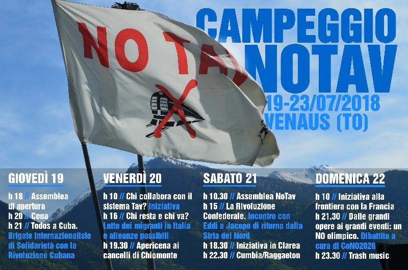 19° campeggio No Tav dal 19 al 23 luglio!