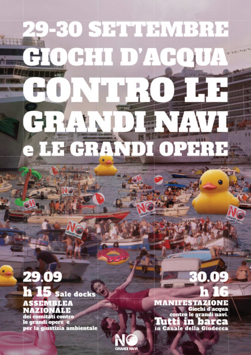 Venezia, 29-30/09. Assemblea e manifestazione contro le grandi navi!