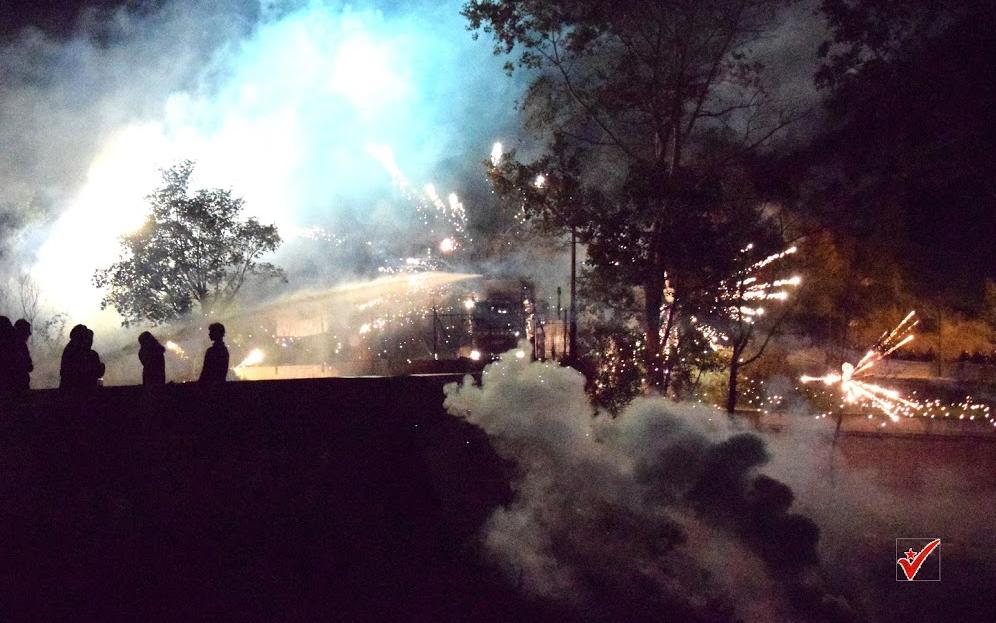 Fuochi lacrimogeni e apericena di lotta alla centrale di Chiomonte