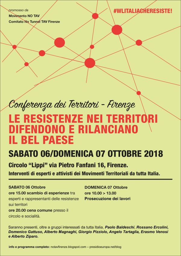 Firenze 6-7/10, conferenza dei territori – Incontro dei movimenti contro le Grandi Opere Inutili
