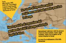 """20/10 Conferenza internazionale """"Nuove pratiche di repressione dei movimenti sociali in Europa e strategie legali di difesa"""""""