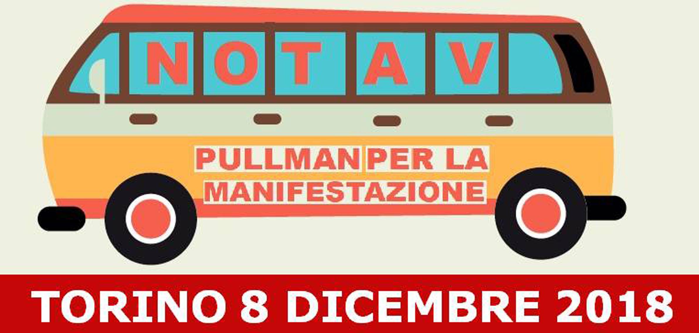 Autobus dalla valle per l'8 dicembre a Torino