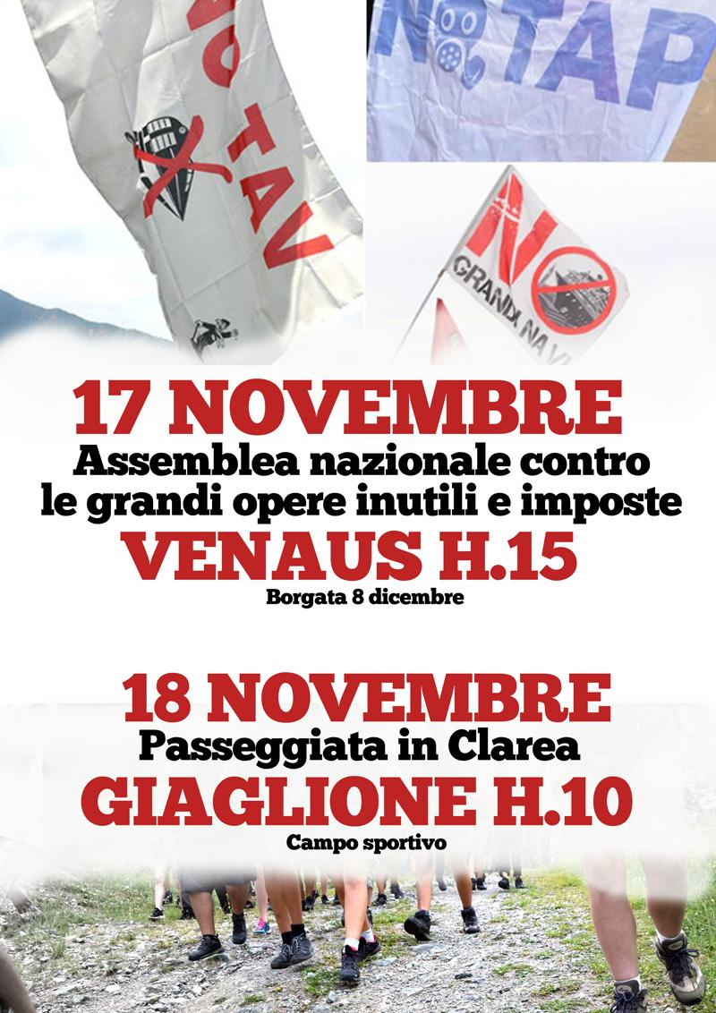 17/18 novembre, due giorni nazionale in Valsusa!