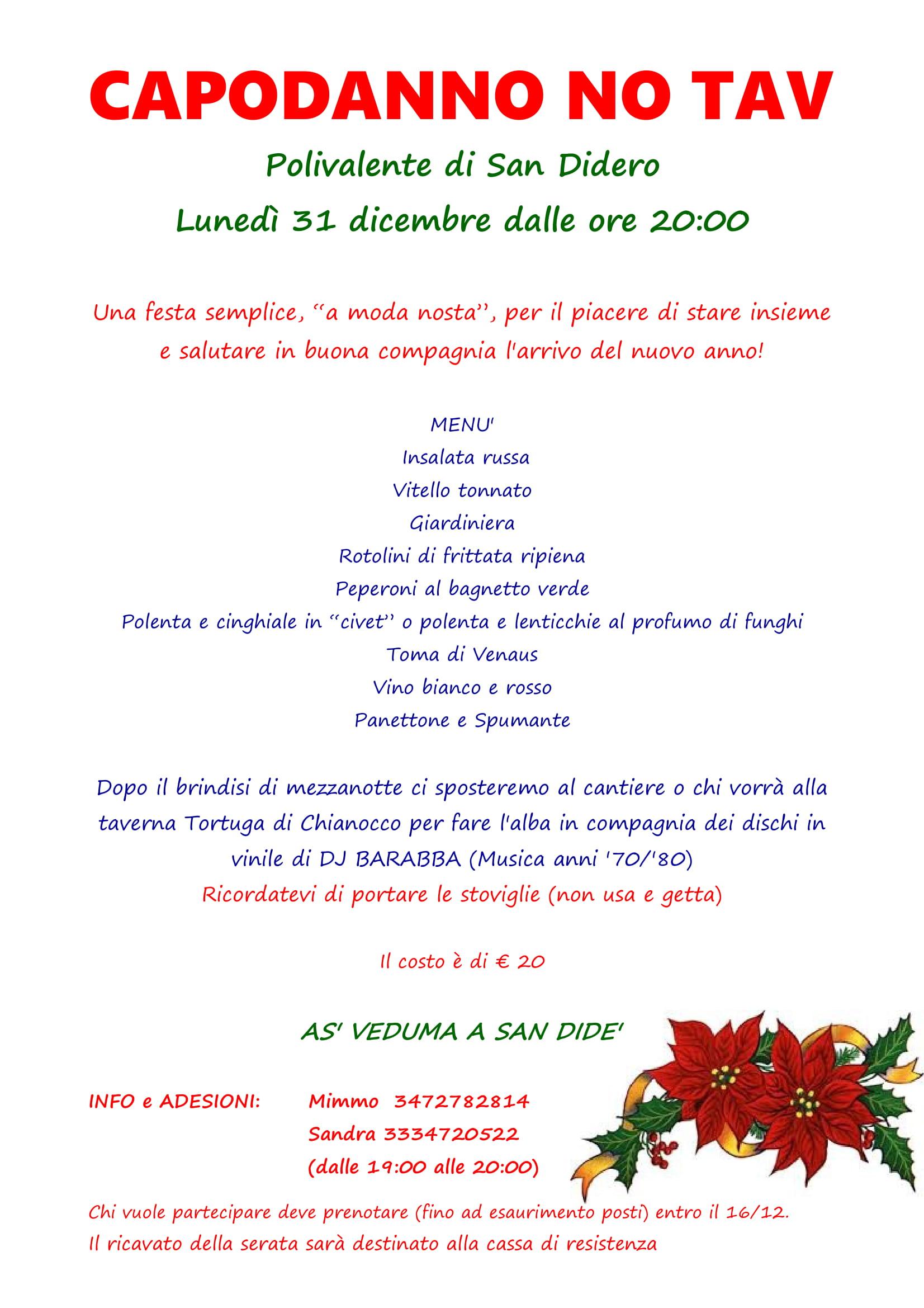 Capodanno No Tav a San Didero