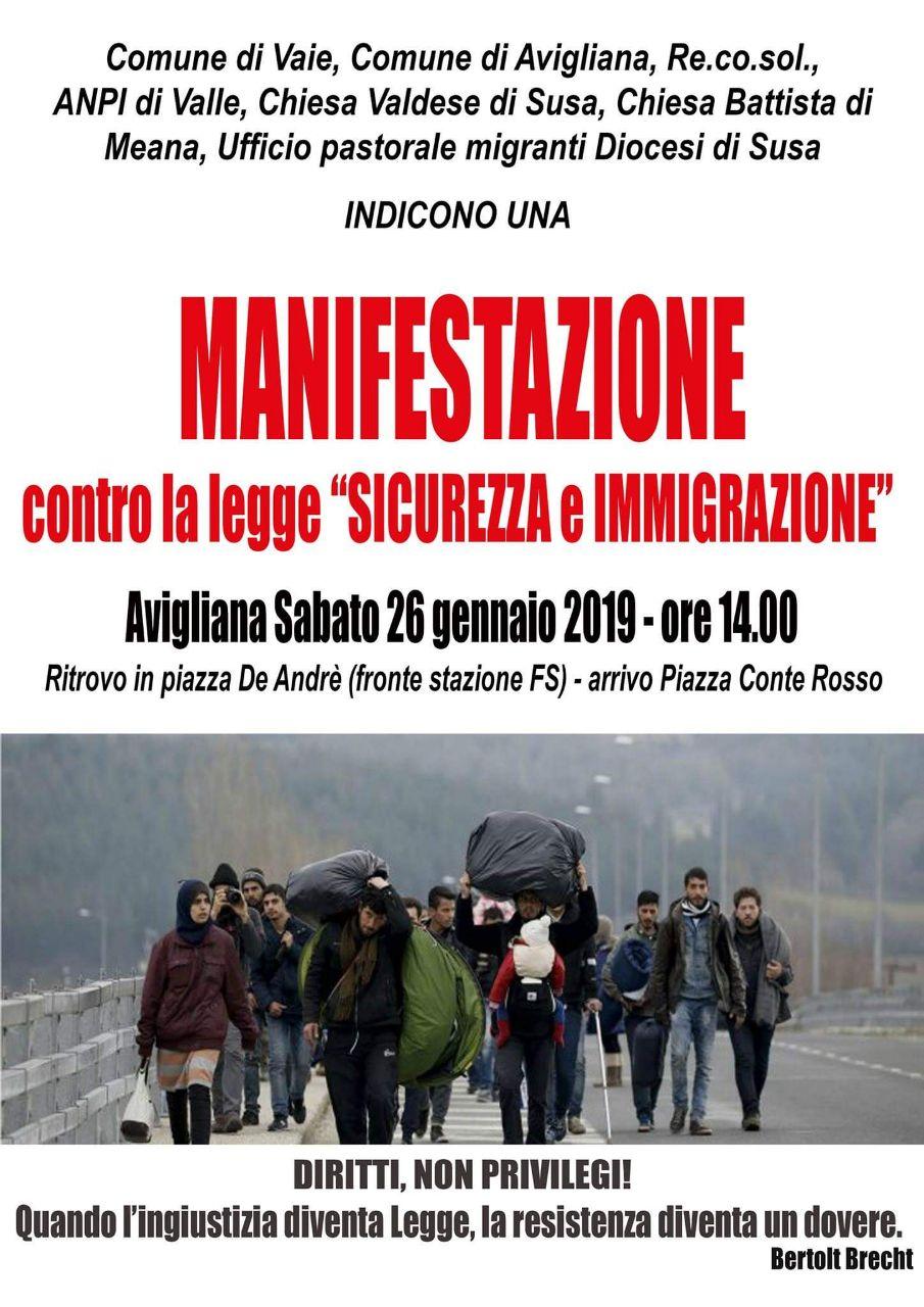 La Valsusa in marcia contro la legge Salvini
