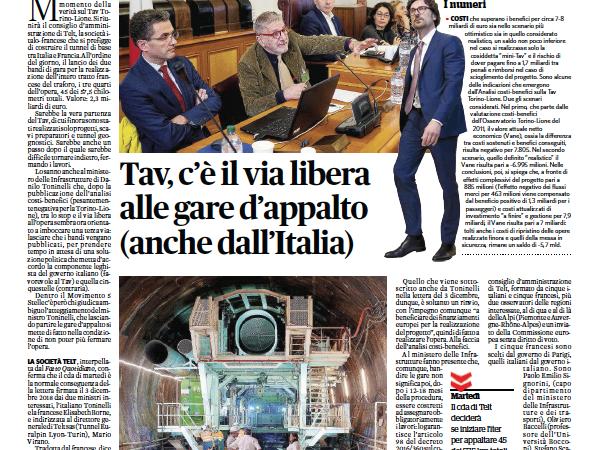 ATTENZIONE: martedì Telt lancia le gare per scavare il tunnel: M5S da via libera, Toninelli autorizza Virano