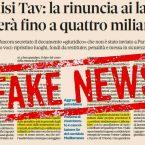 Il Sole 24 ore la spara grossa: fake news sulla rinuncia al TAV