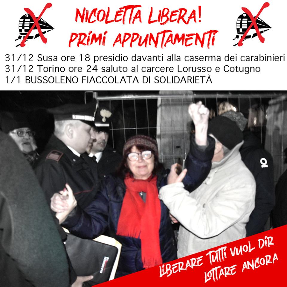 Nicoletta libera! Primi appuntamenti