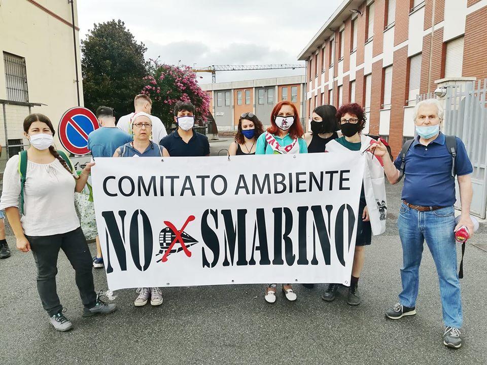 Nasce il comitato no smarino basso cavanese: protesta sotto il comune di Torrazza