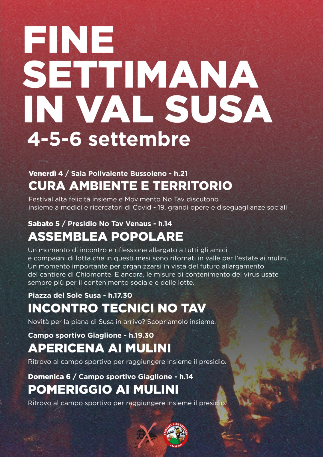 4-5-6/09. Fine settimana in Valsusa!