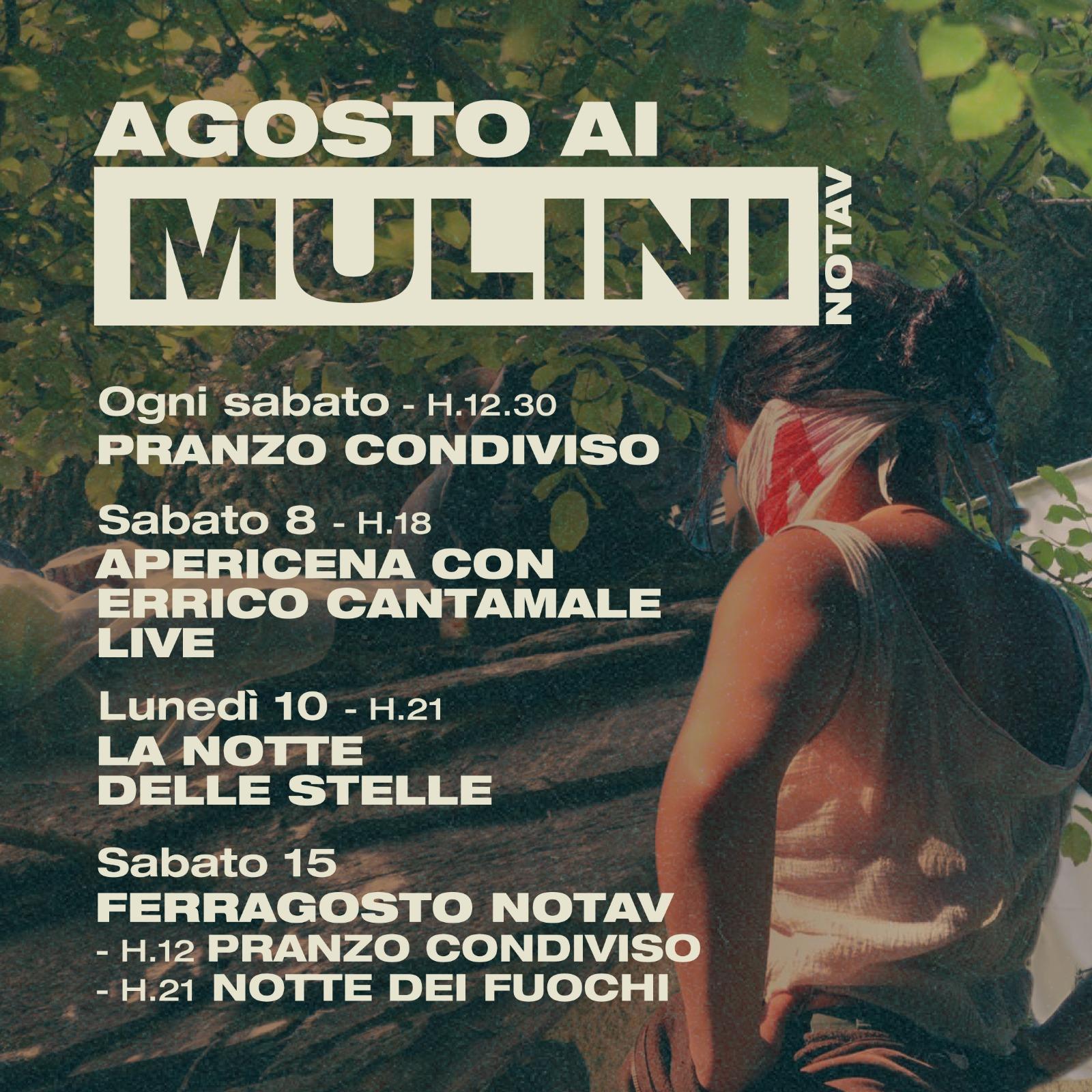 Agosto ai Mulini! Programma delle iniziative