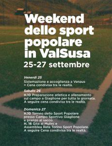 Weekend dello Sport Popolare in Valsusa (25-27 settembre)