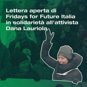 Solidarietà a Dana da Fridays 4 Future!