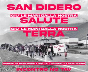 San Didero: Giù le mani dalla nostra salute, giù le mani dalla nostra terra!