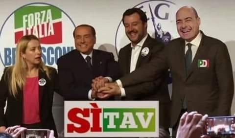 Commissione trasporti: Renzi, Lega e PD salvano il contratto truffa sul TAV