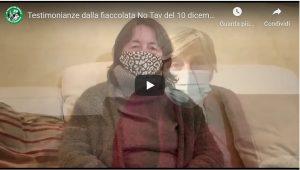 Testimonianze dalla fiaccolata No Tav del 10 dicembre (video)