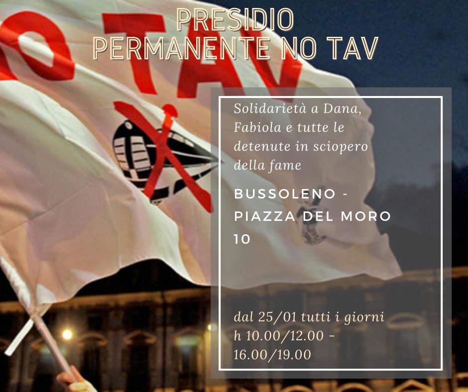 LA SOLIDARIETÀ E' UN' ARMA: dal 25/01 MOVIMENTO NO TAV IN PRESIDIO PERMANENTE