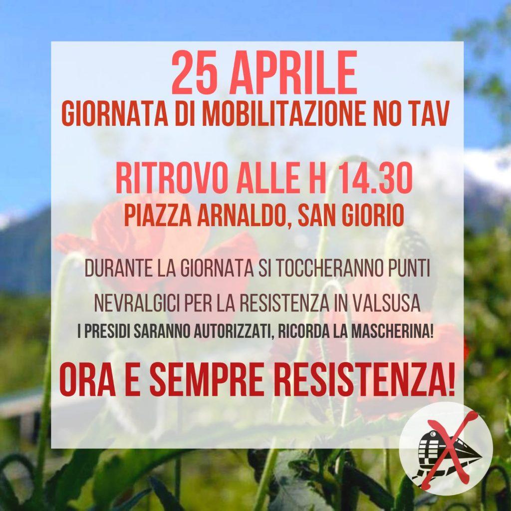 25 aprile ore 14.30 San Giorio. Ora e sempre Resistenza!