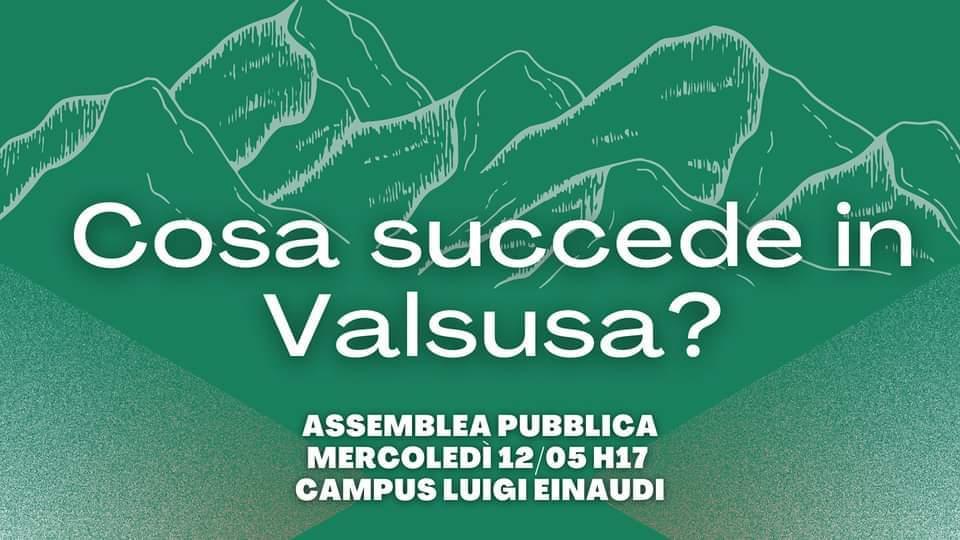 """ASSEMBLEA PUBBLICA UNIVERSITARIA """"COSA SUCCEDE IN VAL DI SUSA?"""""""