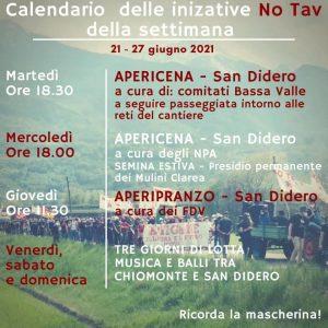 21-27/06: nuova settimana di iniziative No Tav