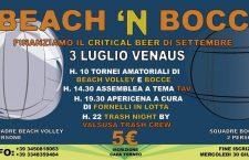 Sabato 03/07: Beach 'n bocc al Presidio di Venaus