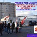 ANCORA CARCERE PER FABIOLA – Giovedi 15 Luglio: Presidio al carcere delle Vallette in solidarietà a Fabiola e a tutte le vittime della repressione.