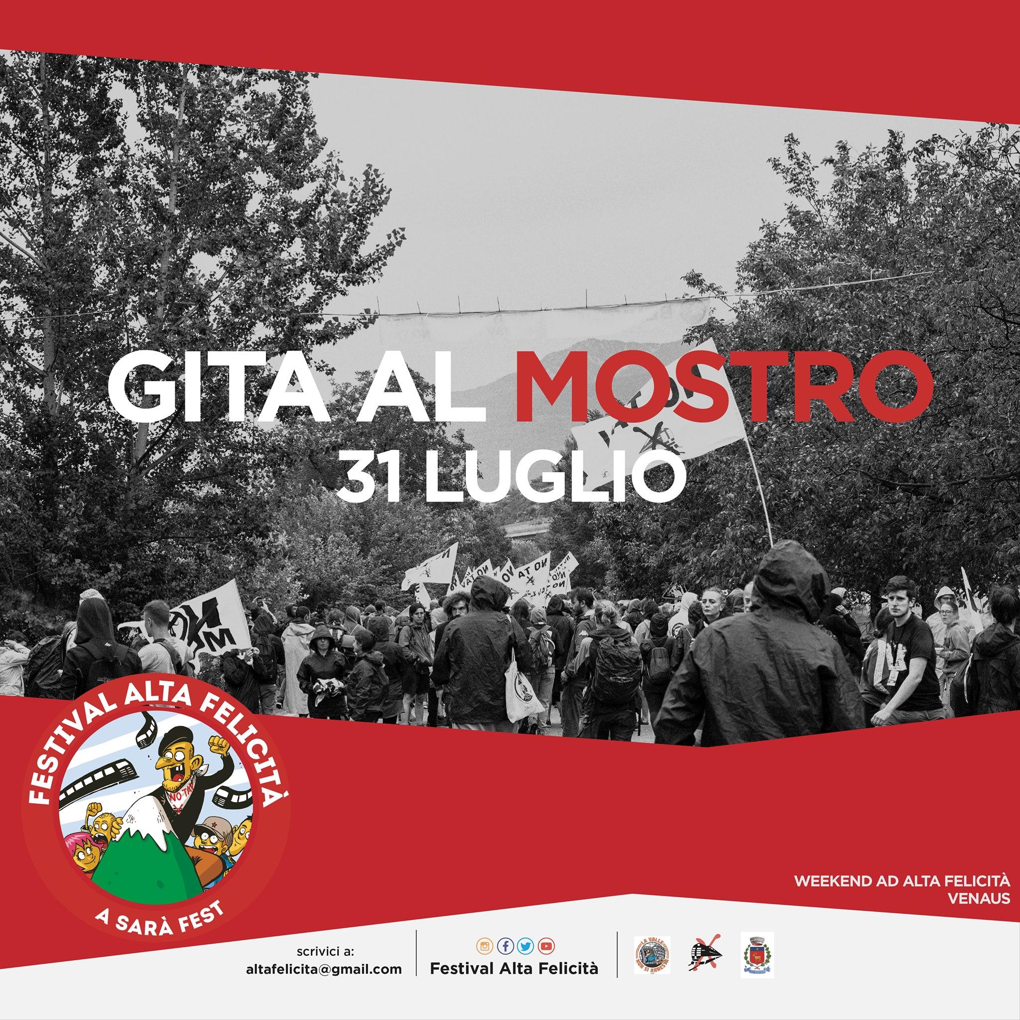 SABATO 31/07 : L'ALTA FELICITA' VA IN CLAREA