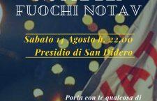 14/08 H. 22, PRESIDIO DI SAN DIDERO: NOTTE DEI FUOCHI NO TAV.
