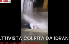 VAL SUSA: NUOVA VIOLENZA DELLE FORZE DELL'ORDINE,  COLPITA UNA DONNA CON L'IDRANTE (VIDEO)