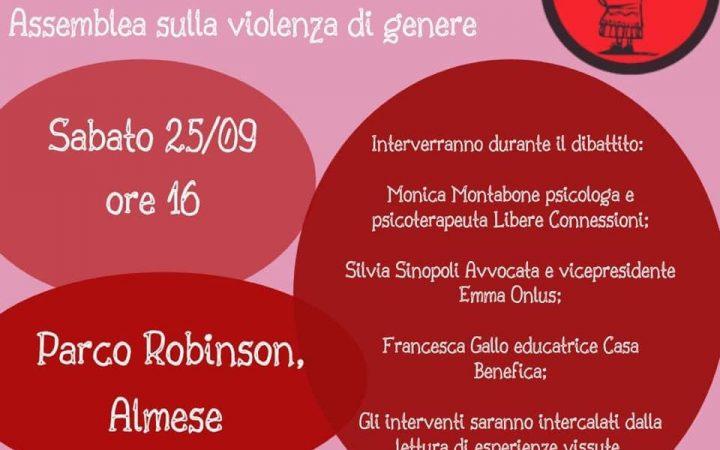 """Sabato 25/09 """"Filo Rosso tra le donne: assemblea sulla violenza di genere"""""""