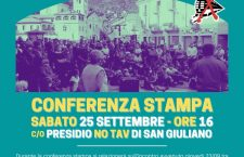 Sabato 25/09 – Ore 16,00: conferenza stampa presidio No Tav di San Giuliano